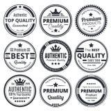 9 масштабируемых винтажных значков Стоковое фото RF