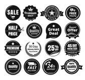 16 масштабируемых винтажных значков Стоковая Фотография RF