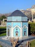 Масштабная модель зеленого мавзолея (Yesil Turbe) в Бурсе Стоковые Фотографии RF