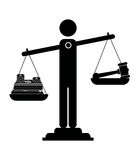 Масштабы правосудия бесплатная иллюстрация