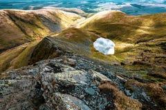 Масштабы Тарн от острого края, Blencathra стоковое фото rf