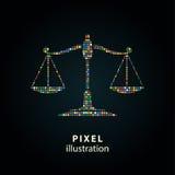 Масштаб - иллюстрация пиксела Стоковое фото RF
