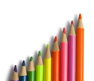 Масштаб карандаша цвета Стоковые Изображения RF