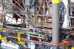 Масштаб модели платформы нефти и газ Энергетическая промышленность петролеум Стоковые Фотографии RF