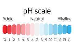 Масштаб ПЭ-АШ Индикатор значения пэ-аш выражая тариф кислотности или основности в химии иллюстрация штока