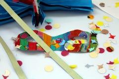 Масленица и чертежи детей иллюстрация вектора