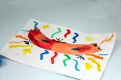 Масленица и чертежи детей иллюстрация штока