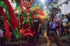 Масленица 2017 ночи Semarang Стоковое фото RF
