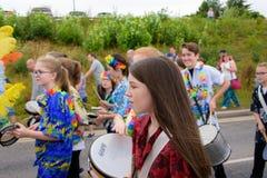 Масленица парада фестиваля гигантов в Telford Шропшире Стоковые Фото