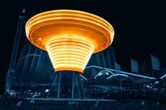 Масленица светлого фестиваля на парке атракционов Linnanmäki стоковое фото rf