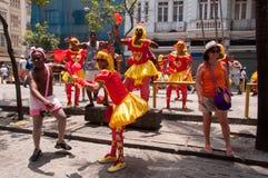 Масленица улицы Рио-де-Жанейро Стоковые Изображения RF