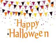 Масленица хеллоуина с гирляндами флагов вектор иллюстрация вектора