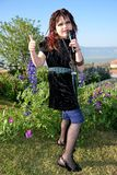 Масленица Purim - панковская певица Стоковая Фотография
