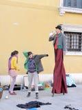 Масленица, Venezia, костюмы и маски 13 Стоковая Фотография RF