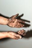 Маслообразные руки Стоковые Фото