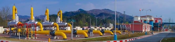 Масло/газопровод на огне Стоковые Изображения RF