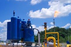 Масло/газопровод на огне Стоковые Изображения