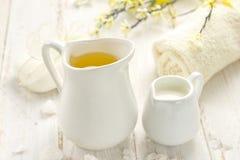 Масло и мыло массажа Стоковое фото RF