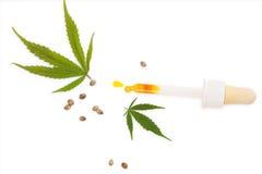 Масло марихуаны CBD Стоковые Изображения