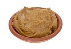 Масло печенья в шаре на белой предпосылке Стоковые Изображения RF