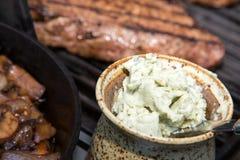 Масло стейка голубого сыра Стоковая Фотография RF