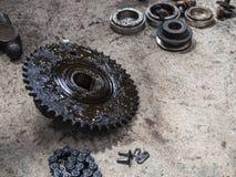 Масло цепного колеса Стоковое Фото