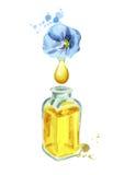 Масло льна естественное иллюстрация штока