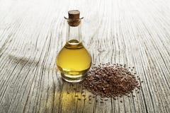 Масло льняного семени Стоковые Фотографии RF