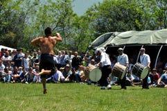 Масло wrestling по случаю дня высвобождения в Dragash Стоковые Фотографии RF