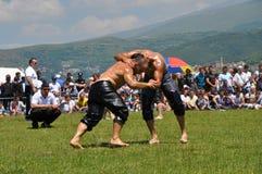 Масло wrestling Стоковые Фотографии RF