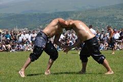 Масло wrestling Стоковые Фото