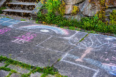 Математика и искусство тротуара Стоковое Изображение