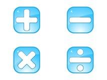 математика кнопки Стоковые Фотографии RF