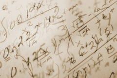 математика предпосылки Стоковые Изображения