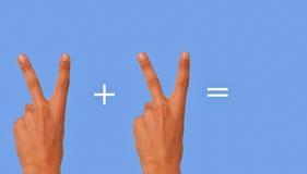 математика просто Стоковое Изображение RF