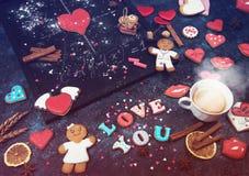 Математика, сердца, формула влюбленности Стоковое фото RF