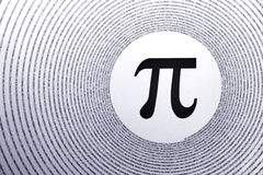 математика pi Стоковое фото RF