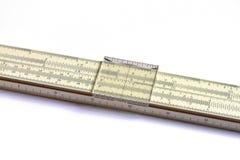 Математически логарифмическая линейка Стоковая Фотография