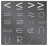 математически символы Стоковая Фотография