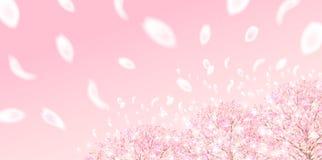 Материал иллюстрации вишни который отображал японская весна иллюстрация штока