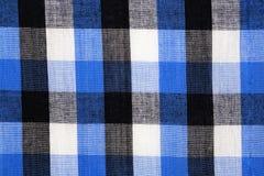 Материал в голубую решетку, предпосылку Стоковые Фотографии RF