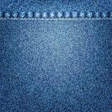 материал голубых джинсов разделяет текстуру Стоковые Фотографии RF