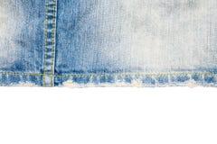 материал голубых джинсов разделяет текстуру Стоковые Изображения RF