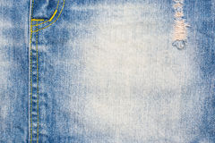 материал голубых джинсов разделяет текстуру Стоковая Фотография
