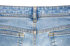 материал голубых джинсов разделяет текстуру Стоковая Фотография RF