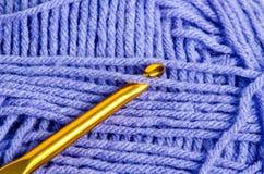 Материалы вязания крючком Стоковое Изображение