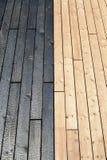 Материалы сочетания из деревянные, который сгорели древесина Стоковая Фотография