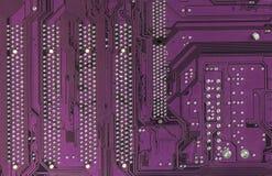 Материнская плата электроники компьютерной микросхемы высокотехнологичная Текстура и предпосылка монтажной платы Стоковые Фотографии RF