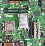 Материнская плата компьютера, плата с печатным монтажом Стоковая Фотография