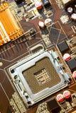 материнская плата компьютера цвета сини близкая вверх Стоковое фото RF